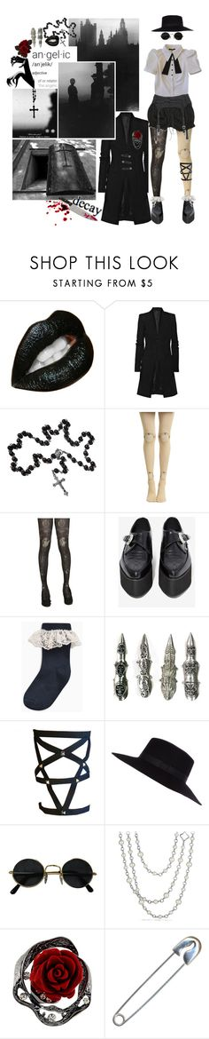 """Let's have a black celebration tonight to celebrate the fact that we've seen the back of another black day."" by foreigneyes ❤ liked on Polyvore featuring Rick Owens, T.U.K., River Island, ESPRIT, David Yurman, monochrome, black, blackandwhite, gothic and depechemode"