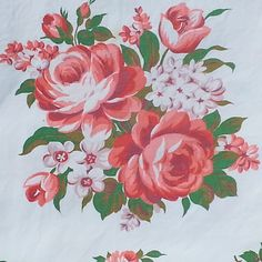"""""""Shabby cottage chic roses tablecloth $40 #inselly #shabbyroses…"""