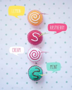 Ice cream or small cakes. Crochet toy [Summer collection] - pinned by pin4etsy.com