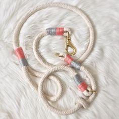 Feeeertig :) Leine mit passendem Halsband aus einem schönen Baumwollseil in…