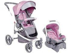 Carrinho de Bebê Passeio Kiddo Aspen Reclinável - 3 Posições para crianças até 15kg + Bebê Conforto