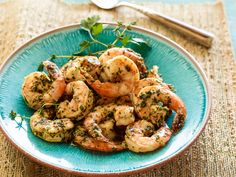 Grilled Shrimp Scampi Recipe : Bobby Flay : Food Network - FoodNetwork.com