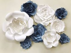 Paper Flower Wall Decor paper flower sets large paper flower
