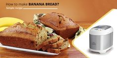 In order to prepare eggless banana bread in an effortless manner, you can use a smart appliance Kent atta and bread maker. Read to know the process to prepare fresh, hygienic, and delicious bread at home. Make Banana Bread, Healthy Banana Bread, Banana Bread Recipes, Cooking Appliances, Bread Baking, Good Food, Easy Meals, Watch Video, Fresh
