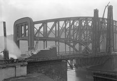 November 1927 - A rare moment when both the old and the new bridges at The Point were in place. There were three bridges connecting The Point for about three years.