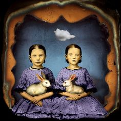 Twins and rabbits by Maggie Taylor