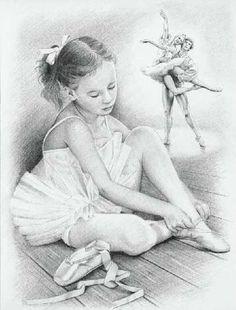 Балерина рисунок карандашом, бесплатные фото, обои, изображения