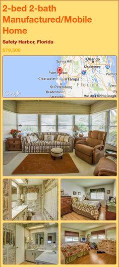 2-bed 2-bath Manufactured/Mobile Home in Safety Harbor, Florida ►$79,500.00 #PropertyForSale #RealEstate #Florida http://florida-magic.com/properties/73774-manufactured-mobile-home-for-sale-in-safety-harbor-florida-with-2-bedroom-2-bathroom