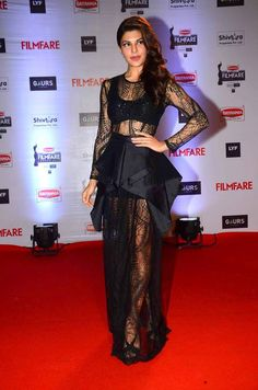 An easy way to wear the #trend is to #fashion the look with #lace. #JacquelineFernandez in #HusseinBazaza