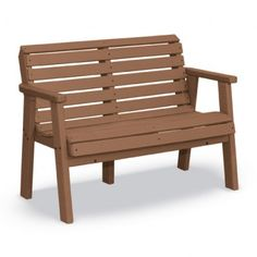 """Garden Bench -   Body Contoured Seats  Angled Back for Comfort  Flexible Back  Can be Engraved    This bench has a body contoured seat and horizontal back slats for great comfort. Heavy-Duty, commercial grade, maintenance-free recycled plastic that can be engraved or personalized; """"In Memory of"""", """"Donated By"""", """"Property of"""", or create your own message.    Shown as 48"""". All 60"""" and 72"""" benches are built with 8 legs.  $449.00"""