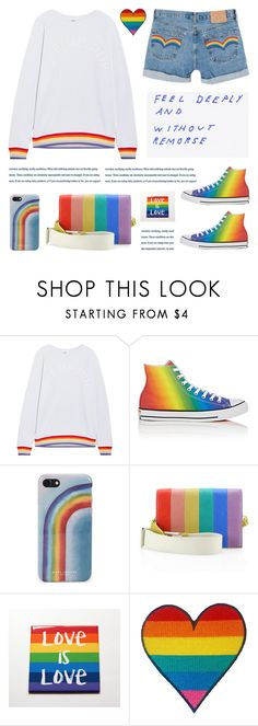 """""""Celebrate Pride Month!"""" by deepwinter ❤ liked on Polyvore featuring The Upside, Converse, Marc Jacobs, Alice + Olivia and pride"""