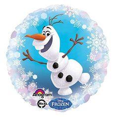 ❄ Frozen Party: Folien-Ballon mit Olaf aus Frozen | Partydekoration die Eiskönigin
