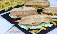 Bocadillo Long Chicken Casero Long Chicken, Tuna, Sandwiches, Fish, Meat, Homemade Mayonnaise, Chips, Sweet And Saltines, Easy Dinners