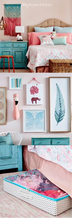 The dreamy beginner boho bedroom inspires creativity and imagination. Mix and match texture and pattern from layered #MyHomeSense bedding to a custom-designed gallery wall. As your little ones grow, easily graduate from beginner to a more mature boho style by switching out decorative accents. Get even more inspo for kids' decor on our website.