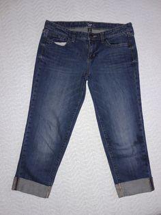 eca533aeb9c Gap 1969 Crop jeans stretch Denim straight Capri 30in 22in  Gap1969   CapriCropped Crop