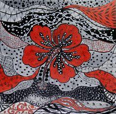 Hibiscus Zentangle