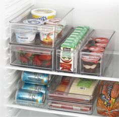 Organize food in clear bins.