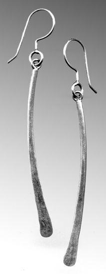 Curve Earrings: Sarah Mann: Silver Earrings - Artful Home. Gorgeous