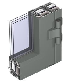With the CS 104 window and door system, Reynaers achieves unparalleled… House Windows, Windows And Doors, Green Building, Building A House, Off Grid House, Sustainable Building Materials, Aluminium Windows, Solar House, Passive House