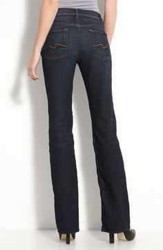 7 For All Mankind Mid-Rise Bootcut Jeans (Lebu Wash) available at #Nordstrom