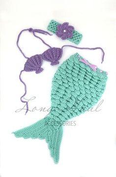 Knit Mermaid Blanket http://www.aliexpress.com/store/1687168    Little Mermaid Photography Prop, Crochet Set, Multiple Sizes for Baby
