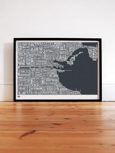 Dublin Type Map by Bold & Noble
