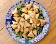 Moroccan briouats are small, crispy pastries stuffed with a variety of fillings. This recipe uses ground meat seasoned with paprika, cumin and parsley.