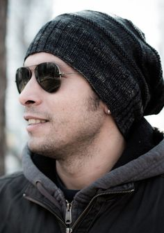 Keep your guy in style during the colder days with this terrific beanie pattern from the Blue Brick. The cool, slouchy style combined with a neutral yarn color is an easy knit that's sure to please even the most fashion-forward male.Get the Slouchy Beanie Tutorial