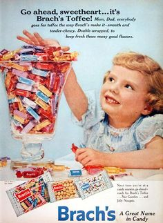 tootsie roll vintage ads | Posted below, are a few magazine ads from old time Chicago candy ...