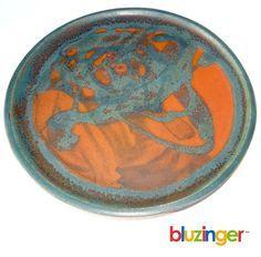 Glidden Pottery RARE Fong Chow Signed Studio Plate Mid Century Modern Ceramics | eBay
