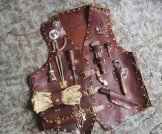 Picture of Airship mechanic tool vest. This is COOOOL!