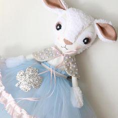 Powder Blue Lilian Lamb Sewing Toys, Sewing Crafts, Sewing Projects, Sewing Stuffed Animals, Stuffed Animal Patterns, Rainbow Bedding, Nifty Crafts, Plushie Patterns, Dress Up Dolls