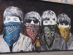 The Beatles – Street Art Barcelon