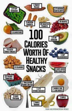 Healthy Snack Ideas! #100cals