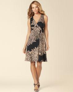 Soma Intimates Sleeveless Side Knot Short Dress Demure Black  somaintimates  Knots 3fe34ea14