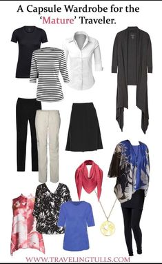 Capsule Travel Wardrobe for Woman Over 50 – Traveling Tulls Source by amyradewan fashion over 50 Capsule Wardrobe Women, Wardrobe Basics, Work Wardrobe, Capsule Outfits, Professional Wardrobe, Travel Outfits, Wardrobe Ideas, Fall Travel Wardrobe, Vacation Wardrobe