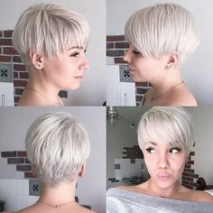 Today we have the most stylish 86 Cute Short Pixie Haircuts. We claim that you have never seen such elegant and eye-catching short hairstyles before. Pixie haircut, of course, offers a lot of options for the hair of the ladies'… Continue Reading → Short Grey Hair, Short Wedding Hair, Short Hair Cuts For Women, Short Hair Styles, Short Cuts, Long Hair, Girls Short Haircuts, Haircuts For Fine Hair, Hairstyles Haircuts