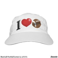Black 3D Football Lovers Hat Sports Gifts, My Black, Baseball Hats, Lovers, Football, 3d, Baseball Caps, Futbol, American Football