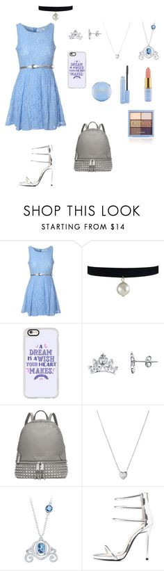 """""""Cinderella"""" by crystalgems125 ❤ liked on Polyvore featuring Glamorous, Casetify, Disney, Michael Kors, Links of London and Qupid"""