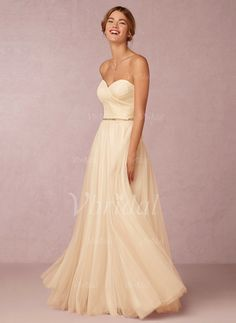 Wedding Dresses - $177.42 - A-Line/Princess Floor-Length Tulle Wedding Dress With Ruffle (0025094156)