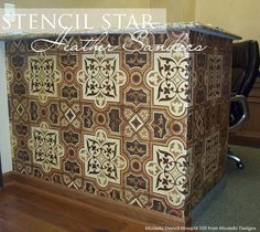 Stunning Modello™ Designs Marquetry finish using our MarqAll105 pattern | Faux Marquetry Technique