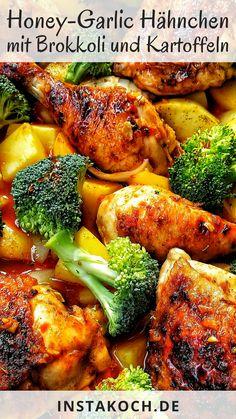 Honey Garlic Chicken, Tandoori Chicken, Healthy Snacks, Healthy Recipes, Good Food, Yummy Food, Eat Smart, Food Inspiration, Chicken Recipes