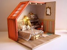 Hand-made miniature Scene 1:12 scale The light of by Pequeneces