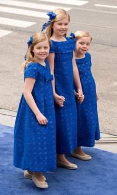 Daughters of King Willem-Alexander and Queen Maxima on their parents' coronation day