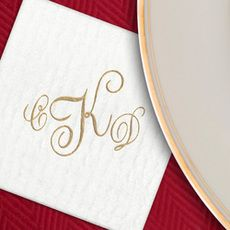 Design Your Own Luxury Masslinn Napkins #StationeryStudio