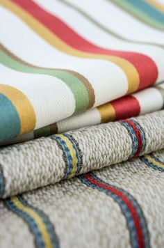 Studio Stripes, a new upholstery collection that beautifully combines the elements of texture and color. Fabricut at Dean Warren, Scottsdale