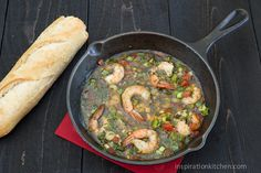 Bahama Breeze Skillet Simmered Jerk Shrimp - Inspiration Kitchen.......just made this and it tastes exactly like Bahama Breeze' Jerk Shrimp. Delish!!!
