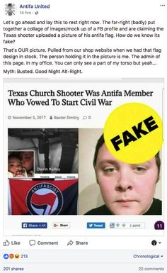 Here's How A False Conspiracy Theory About The Texas Shooter Being Antifa Went Viral
