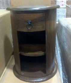 Indian Bombay Jali Drum Chest Bedside Side Lamp Table Sheesham Dakota Free  P P   EBay