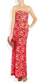 ADAM  Strapless lace gown   £922